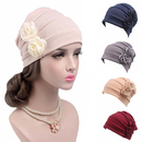 Opromo Women's Ruffle Chemo Turban headband Scarf Beanie Cap Hat for Cancer Patient