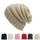 Opromo Kids Winter Warm Stretchy Chunky Knit Slouch Beanie Skull Hat, Ages 2-7