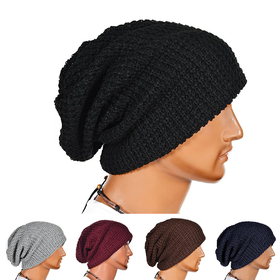 f8135cce3b0 Opentip.com  Opromo Unisex Slouchy Winter Hats Knitted Beanie Cap Men Women  Soft Warm Ski Hat
