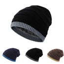 Opromo Men's Soft Fleece Lined Thick Knit Skull Cap Warm Winter Slouchy Beanies Hat