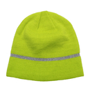 Opromo Hi Vis Knit Cap, Reflective Stripe, High Visibility Workman Beanie Hat