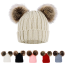 Opromo Baby Winter Warm Faux Fur Pom Pom Beanie Cap Infant Toddler Kids Knit Hat
