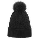 Opromo Women Winter Pom Pom Beanie Hat with Warm Fleece Lined, Thick Slouchy Snow Knit Skull Ski Cap