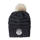 Custom Oversized Pom Pom Fur Chunky Thick Knit Slouch Beanie Skull Ski Hat Cap