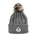 Custom Kids Beanie Winter Knit Beanie Hat with Faux Fur Pom Pom Ski Hat