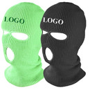 Custom 3 Hole Knit Balaclava Full Face Mask Kniited Ski Mask Outdoor Sports Beanie