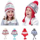 Opromo Kids Baby Toddler Boys Girls Winter Hat Warm Knit Beanie Earflap Hat with Fleece Lining