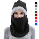 Opromo Winter Balaclava Fleece Hood Ski Face Mask Wind Resistant Warmer Headgear for Men and Women