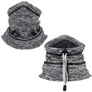 Opromo Fleece Lined Neck Gaiter with Drawstring,Winter Neck Warmer Ski Balaclava Face Cover Scarf Hat