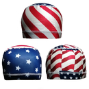 Opromo Flag Printed Mesh Crown Stretch Wicking Helmet Liner Cooling Cycling Motorcycle Skull Cap for Men and Women