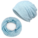 Opromo Multifunctional Hollow-Out Slouchy Cotton Beanie Scarf Hat Thin Lightweight Turban Chemo Cap