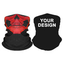 Custom Seamless Face Cover Black Motorcycle Mask Balaclava Bandana Tube Hat