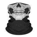 Opromo Unisex Seamless Skull Face Tube Mask Black Motorcycle Face Mask