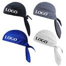 Custom Do Rag Cooling Cycling Skull Cap Headwrap Helmet Liner Pirate Beanie Hat
