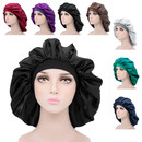 Opromo Extra Large Luxurious Silky Satin Bonnet Sleep Cap Night Hat Head Cover Headwrap for Natural Curly Hair Long Hair