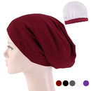 Opromo Silcky Lined Baggy Slouchy Skull Chemo Cap Turban Beanie Hat,Head Cover with Premium Elastic Band