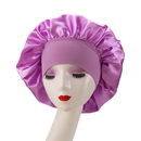Opromo Satin Silky Sleep Bonnet Cap with Premium Wide Elastic Band,Head Cover for Natural Curly Hair,12 inches