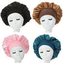 Opromo Satin Silky Sleep Bonnet Cap with Premium Wide Elastic Band,Head Cover for Natural Curly Hair
