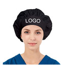 Custom Cotton Tie Back Bouffant Scrub Chemo Hat Skull Cap