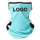 Custom Two Tone Mesh Cooling Face Cover Neck Gaiter with Ear Loops,Breathable Cycling Motorcycle Outdoor Balaclava