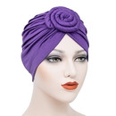 Opromo Turban Knot Flower Headwrap Pre-Tied Bonnet Chemo Cap Beanie Hair Loss Hat