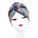 Opromo Turban African Pattern Flower Knot Headwrap Beanie Pre-Tied Bonnet Chemo Cap Hair Loss Hat
