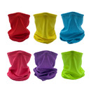 Opromo 6PCS Kids Breathable Neck Gaiter Face Cover Balaclava Tube Hat,Mesh Cooling Face Gaiter Mask for Boys Girls