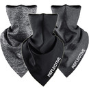 Custom Fleece Lined Neck Gaiter for Cold Weather with Reflective Logo and Breathable Mesh Holes,Winter Face Gaiter Bandana for Men Women