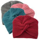 Opromo Womens Knit Turban Beanie, Knotted Turban Chunky Beanie Knitted Hat for Women