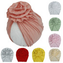 Opromo  Baby Girls Floral Turban Hats Turban Bun Knot Baby Infant Cute Nursery Soft Cotton Beanie