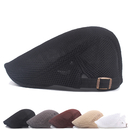 Opromo Men Breathable Mesh Summer Hat Newsboy Duckbill Beret Ivy Cap Cabbie Flat Cap