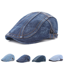 Opromo Unisex Denim Newsboy Flat Ivy Gatsby Cabbie Driving Hat Dad Cap