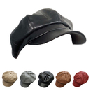 Opromo Women 8 Panels Newsboy PU Leather Ladies Visor Beret Gatsby Ivy Cabbie Painter Hat