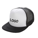 Customized Two Tone Flat Bill Mesh Trucker Cap, Adjustable Snapback, Comes in Different Colors, Long Leadtime