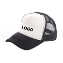 Customized Two Tone Curve Bill Mesh Trucker Cap, Adjustable Snapback, Comes in Different Colors, Long Leadtime