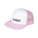 Customized Kids Two Tone Mesh Flat Bill Trucker Cap, Adjustable Snapback, 9 Colors, Long Leadtime
