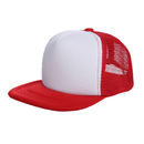 Opromo Blank Kids Two Tone Mesh Flat Bill Trucker Cap - Adjustable Snapback, 9 Colors