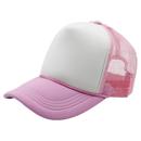 Opromo Polyester Foam Front Two Tone Mesh Snapback Cap Curve Bill Trucker Hat