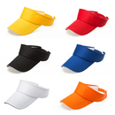Opromo Plain Sun Visor Cap with Sandwich Bill Adjustable Hat for Men and Women