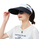 Opromo Sun Visor Hats for Women, Foldable Large Brim UV Protection Summer Beach Cap