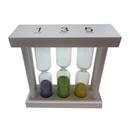 Blank 1/3/5 Min Wood Frame Sandglass, 3 1/2