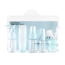 Aspire 6 PCS Travel Size Toiletry Bottles Set, Hand Sanitizer Bottle Set, TSA Approved Clear Cosmetic Makeup Liquid Containers with Zipper Bag