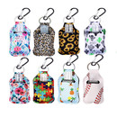 Muka 30ml/1oz. Empty Instant Hand Sanitizer Bottle with Keychain Holder