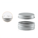 Aspire 10g 20g Metal Tin Steel Flat Silver Metal Tins Jars Empty Slip Slide Round Tin Containers With Tight Sealed Cover
