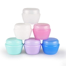 Muka Small Plastic Jars with Lids and Inner Liners Empty Lotion Containers