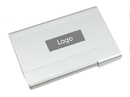 Custom Brushed Aluminum Card Holder, 3-5/8