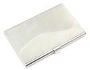 Stainless Iron Card Holder with Curved Pattern, 3-5/8