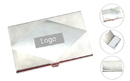 Brushed Stainless Steel Business Card Holder with Diamond Pattern,3-5/8