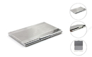 Brushed Two-tone Stainless Iron Business Card Holder, 3-3/4