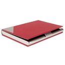Promotional Leather & Stainless Steel Bussiness Card Holder, 3.67